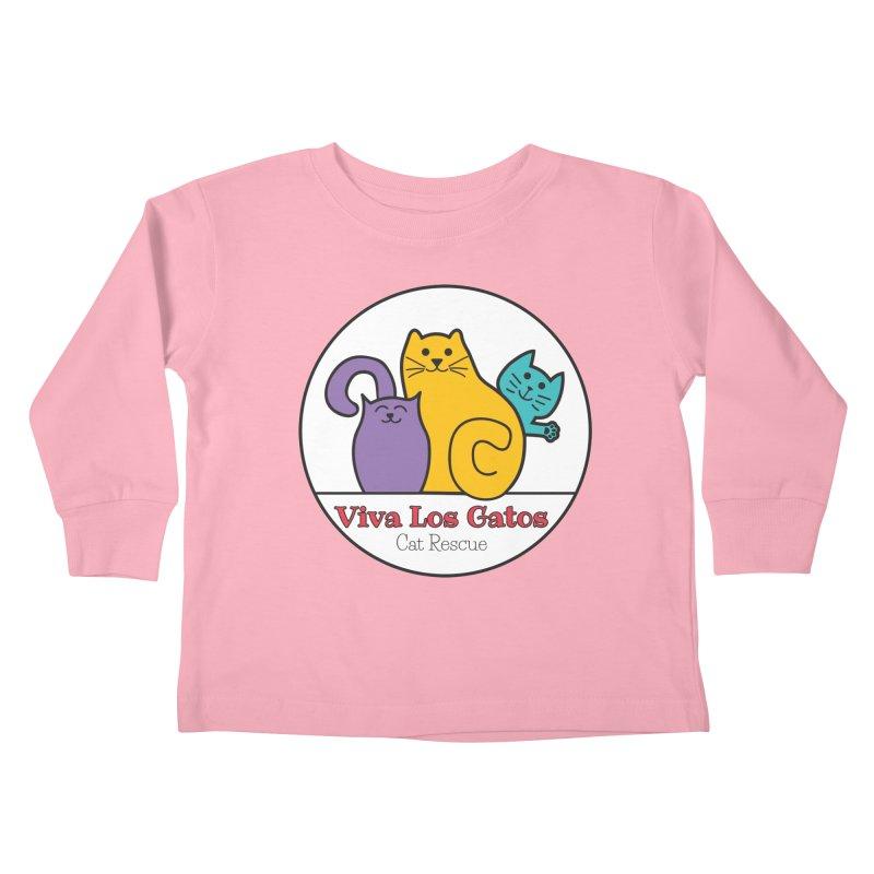 Gatos Circle Kids Toddler Longsleeve T-Shirt by Viva Los Gatos Cat Rescue's Shop