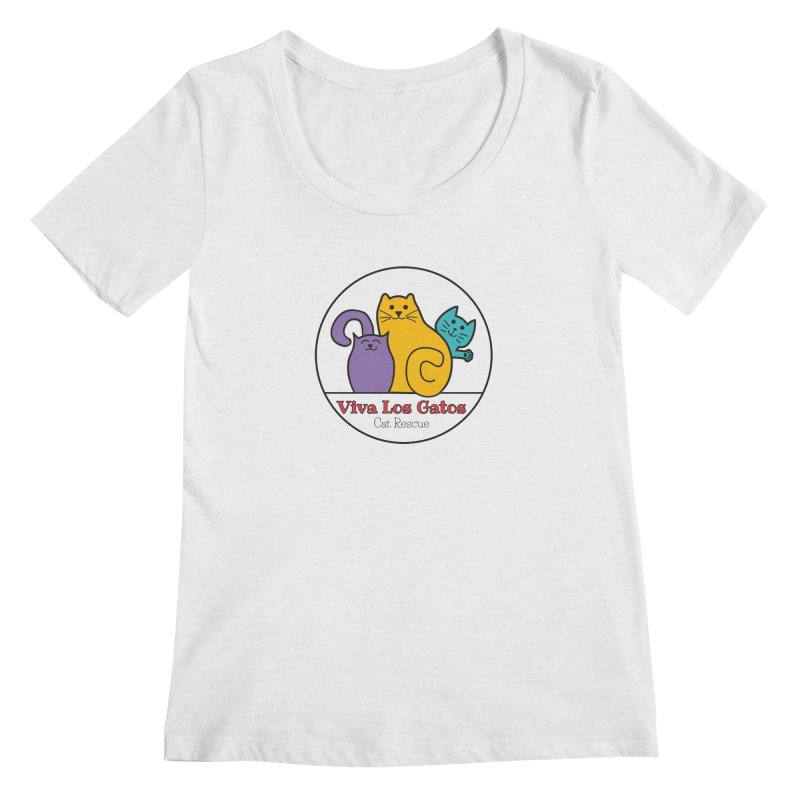 Gatos Circle Women's Scoop Neck by Viva Los Gatos Cat Rescue's Shop
