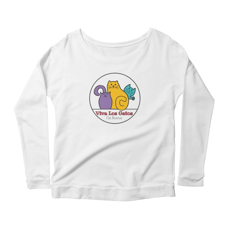 Gatos Circle Women's Scoop Neck Longsleeve T-Shirt by Viva Los Gatos Cat Rescue's Shop