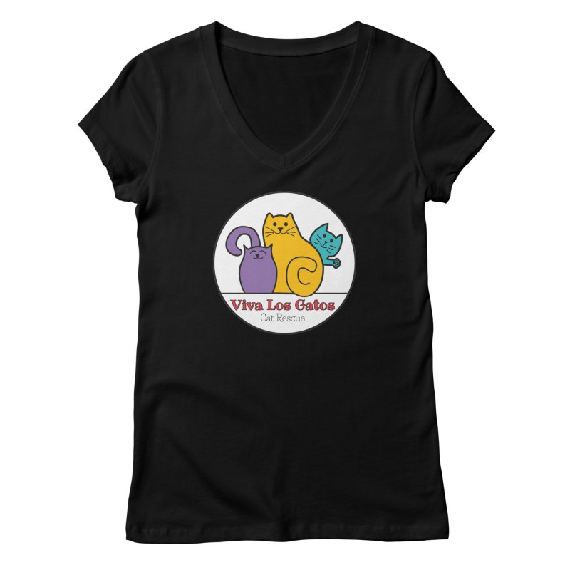 Gatos Circle Women's V-Neck by Viva Los Gatos Cat Rescue's Shop