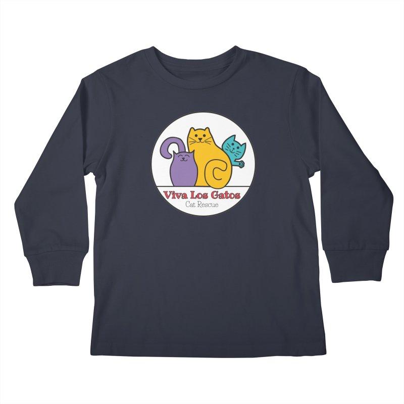 Gatos Circle Kids Longsleeve T-Shirt by Viva Los Gatos Cat Rescue's Shop