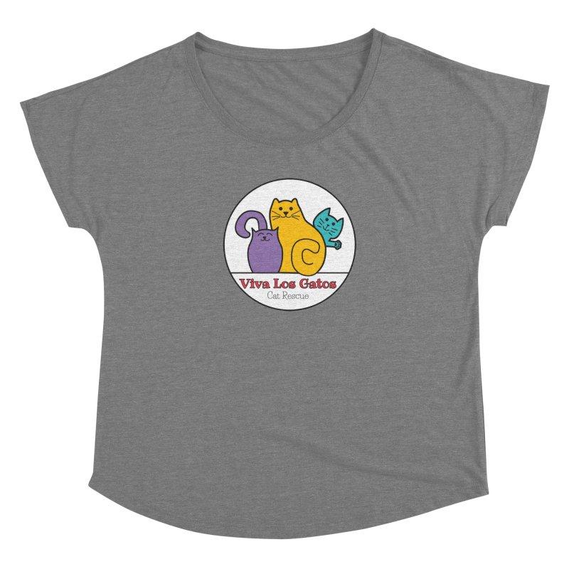 Gatos Circle Women's Scoop Neck by Viva Los Gatos Cat Rescue's Shop
