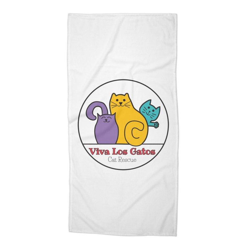 Gatos Circle Accessories Beach Towel by Viva Los Gatos Cat Rescue's Shop