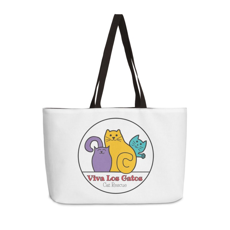 Gatos Circle Accessories Weekender Bag Bag by Viva Los Gatos Cat Rescue's Shop