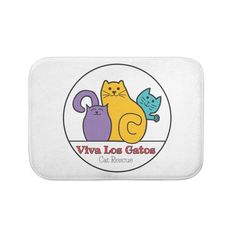 Gatos Circle Home Bath Mat by Viva Los Gatos Cat Rescue's Shop