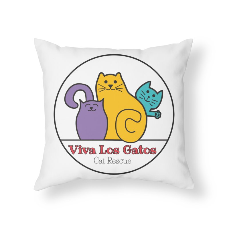 Gatos Circle Home Throw Pillow by Viva Los Gatos Cat Rescue's Shop