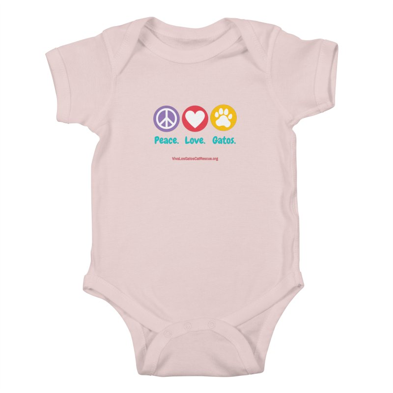 Peace. Love. Gatos. Kids Baby Bodysuit by Viva Los Gatos Cat Rescue's Shop