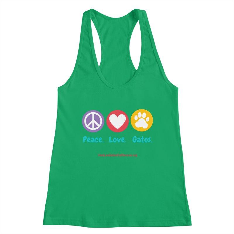 Peace. Love. Gatos. Women's Tank by Viva Los Gatos Cat Rescue's Shop