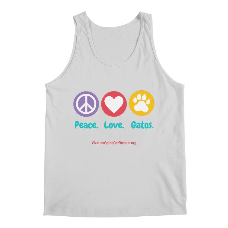 Peace. Love. Gatos. Men's Regular Tank by Viva Los Gatos Cat Rescue's Shop