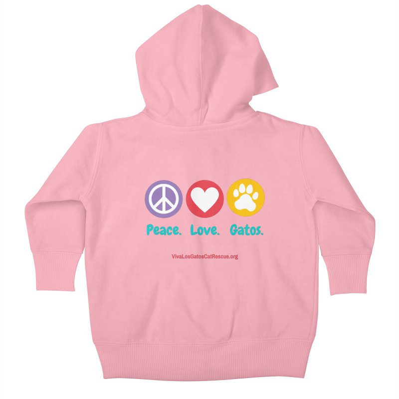Peace. Love. Gatos. Kids Baby Zip-Up Hoody by Viva Los Gatos Cat Rescue's Shop