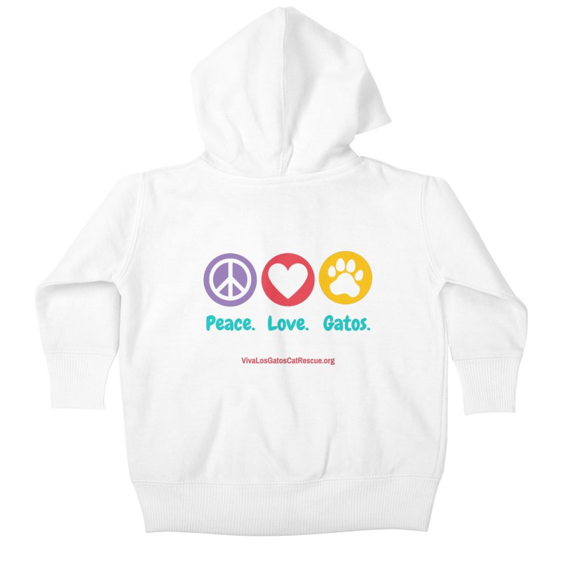 Peace. Love. Gatos. Kids Baby Zip-Up Hoody by Viva Los Gatos Cat Rescue's Shop