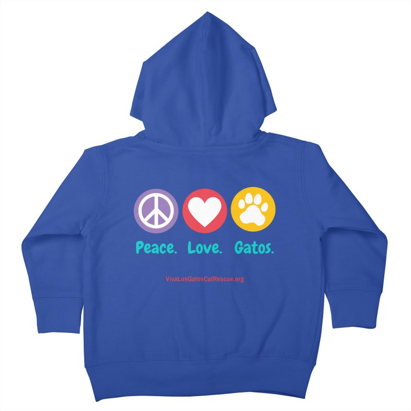 Peace. Love. Gatos. Kids Toddler Zip-Up Hoody by Viva Los Gatos Cat Rescue's Shop