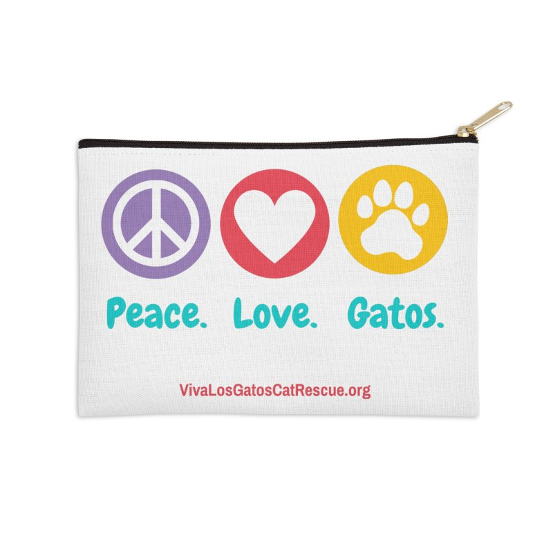 Peace. Love. Gatos. Accessories Zip Pouch by Viva Los Gatos Cat Rescue's Shop