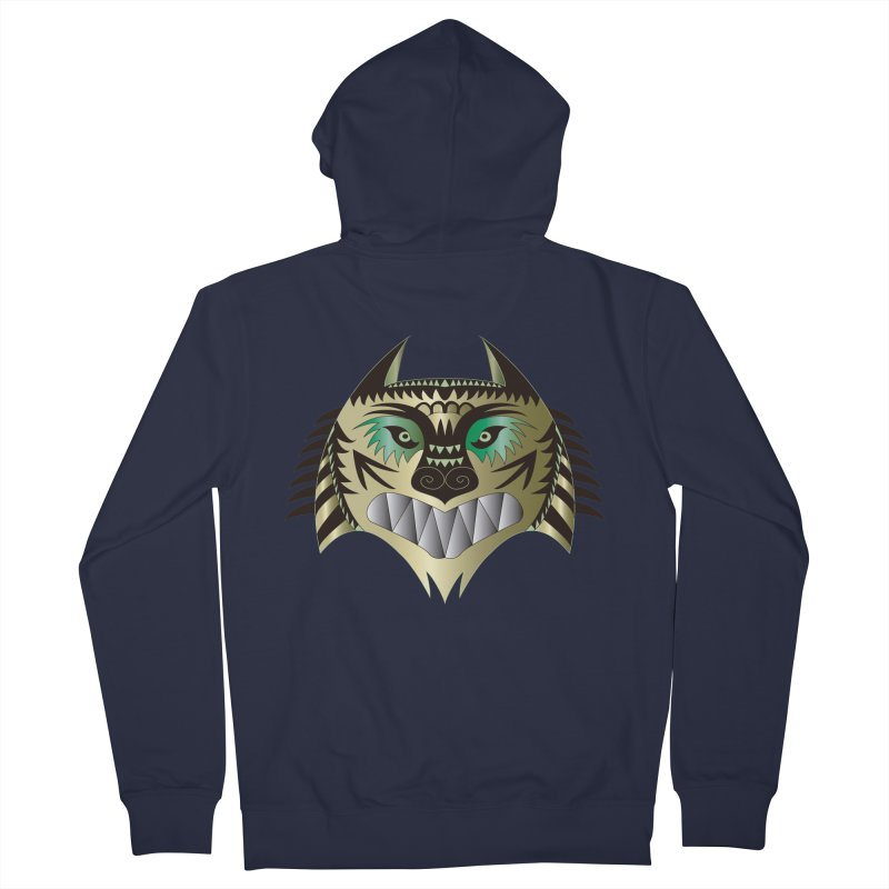 Wolf-Tiger Women's Zip-Up Hoody by WALLYF's Artist Shop