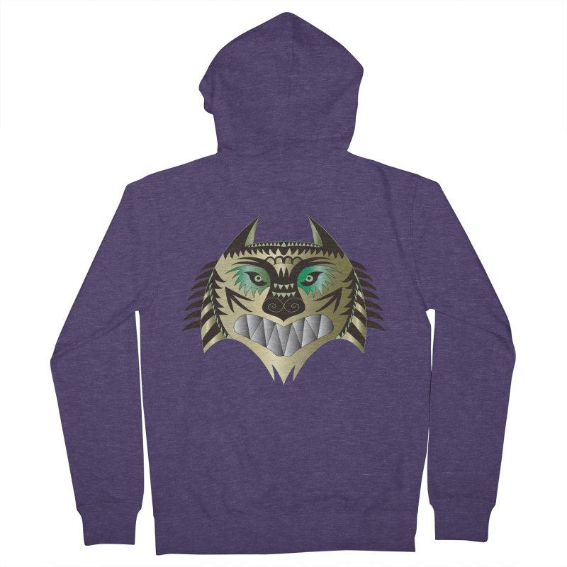 Wolf-Tiger Men's Zip-Up Hoody by WALLYF's Artist Shop