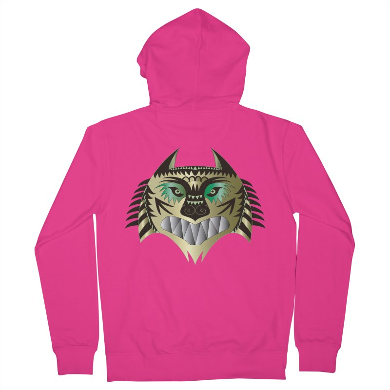 Wolf-Tiger Men's Zip-Up Hoody by WALLYF's Artist Shop