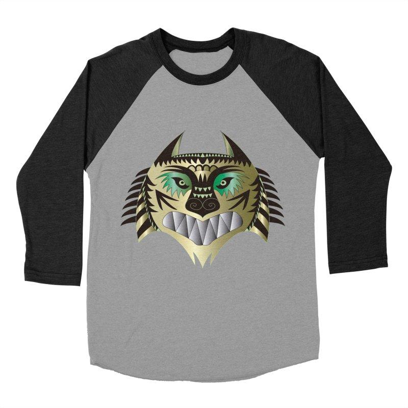 Wolf-Tiger Women's Baseball Triblend T-Shirt by WALLYF's Artist Shop