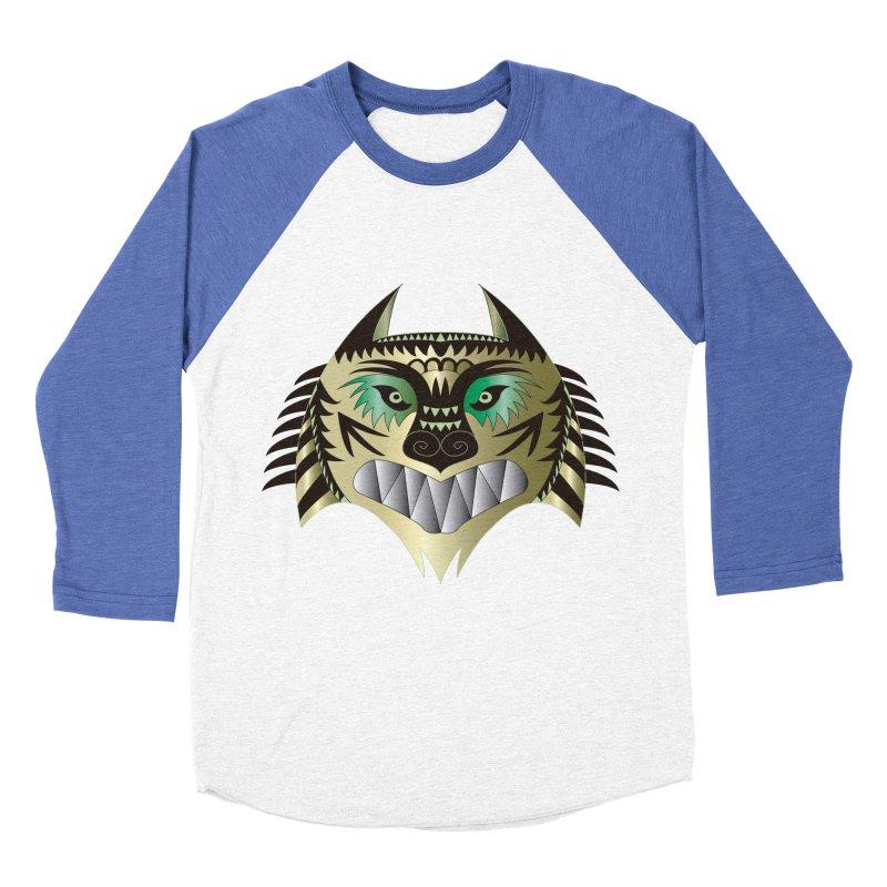 Wolf-Tiger Men's Baseball Triblend T-Shirt by WALLYF's Artist Shop