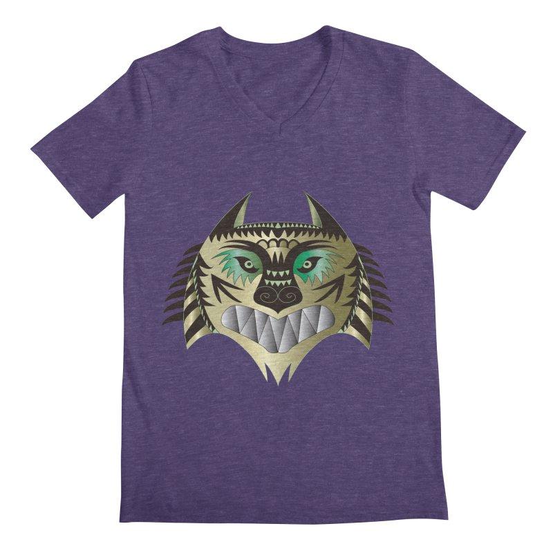 Wolf-Tiger Men's V-Neck by WALLYF's Artist Shop