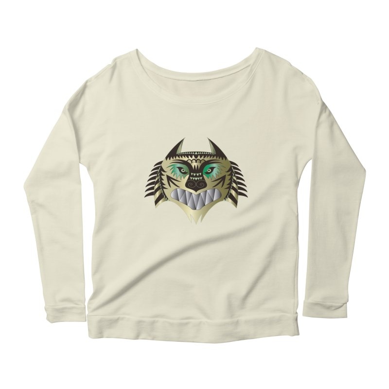 Wolf-Tiger Women's Longsleeve Scoopneck  by WALLYF's Artist Shop