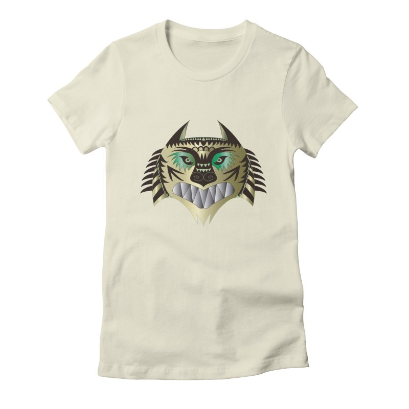 Wolf-Tiger Women's Fitted T-Shirt by WALLYF's Artist Shop