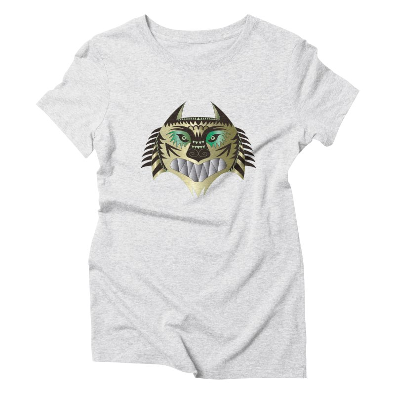 Wolf-Tiger Women's Triblend T-Shirt by WALLYF's Artist Shop