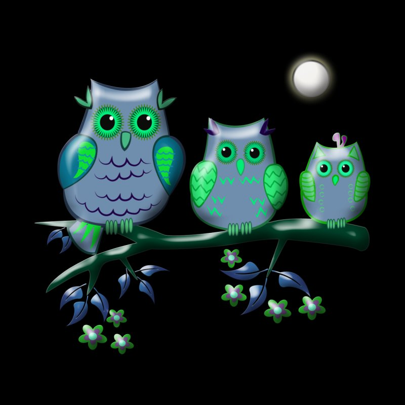 owls Kids T-Shirt by WALLYF's Artist Shop