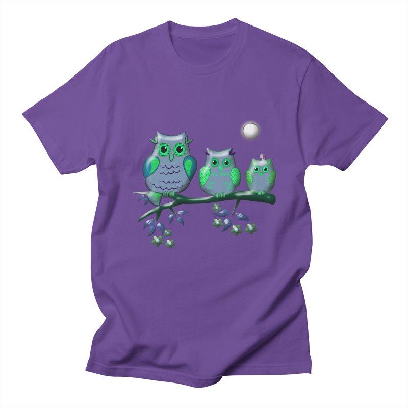 owls Men's T-Shirt by WALLYF's Artist Shop