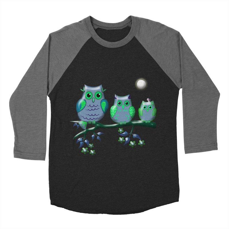 owls Women's Baseball Triblend T-Shirt by WALLYF's Artist Shop