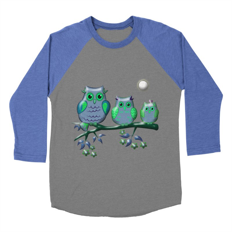 owls Men's Baseball Triblend T-Shirt by WALLYF's Artist Shop