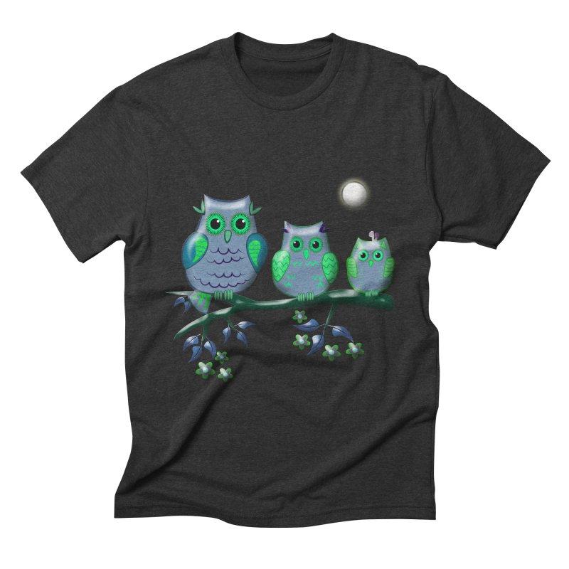 owls Men's Triblend T-shirt by WALLYF's Artist Shop