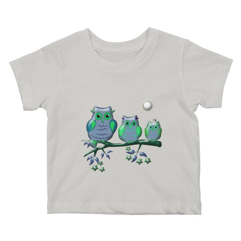 owls Kids Baby T-Shirt by WALLYF's Artist Shop