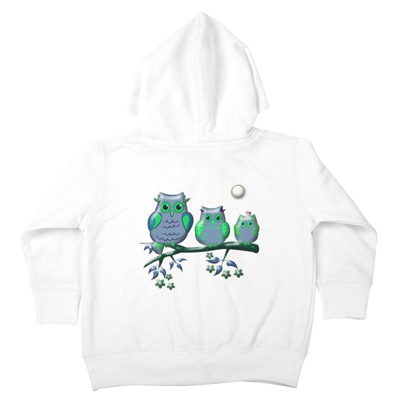 owls Kids Toddler Zip-Up Hoody by WALLYF's Artist Shop