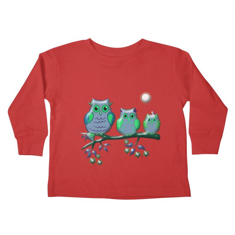 owls Kids Toddler Longsleeve T-Shirt by WALLYF's Artist Shop
