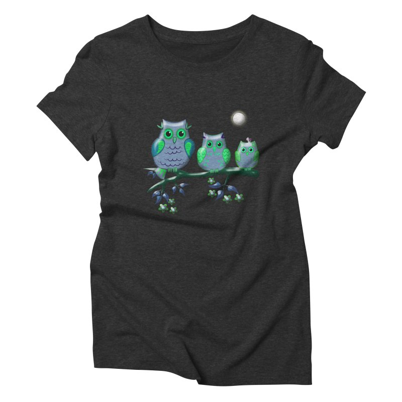 owls Women's Triblend T-Shirt by WALLYF's Artist Shop