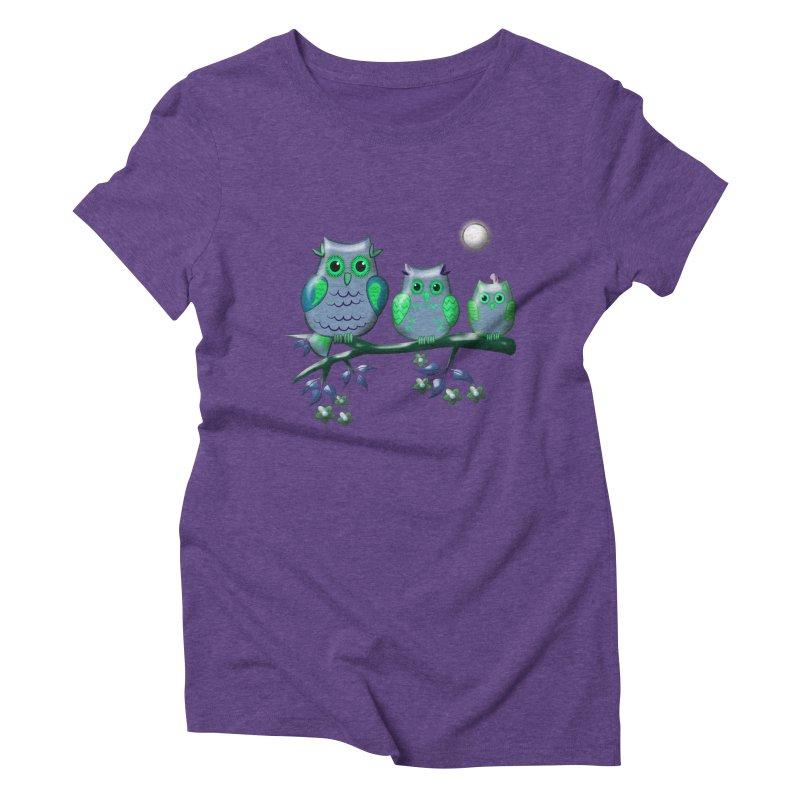 owls Women's Triblend T-Shirt by WALLYF's Artist Shop