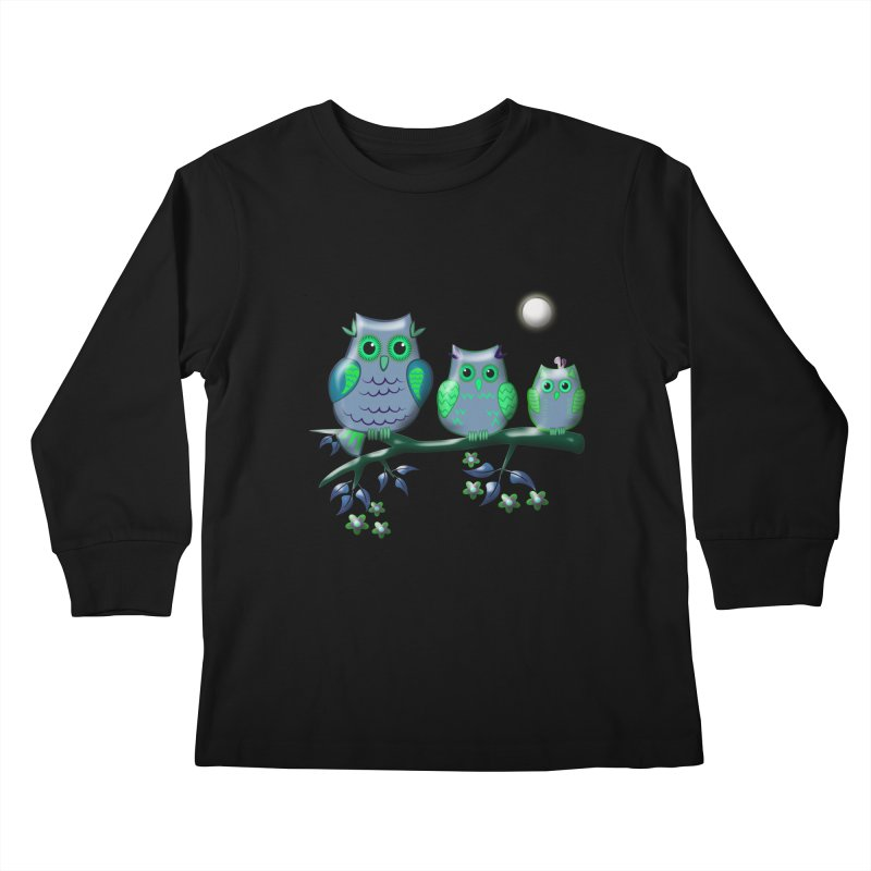 owls Kids Longsleeve T-Shirt by WALLYF's Artist Shop