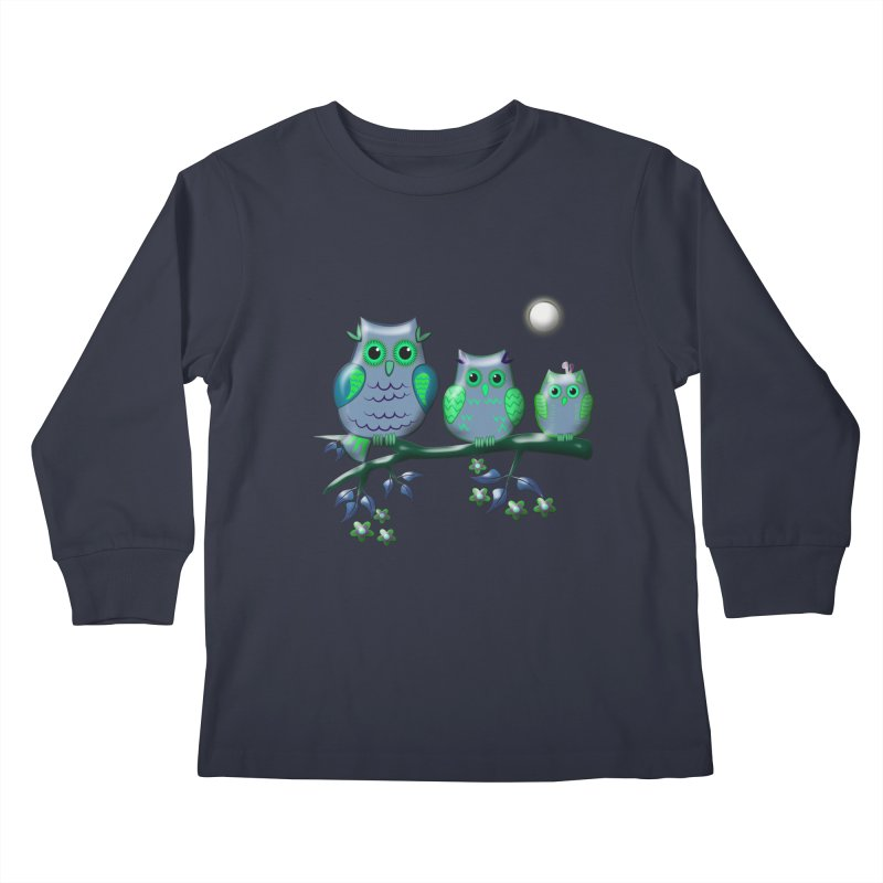 owls Kids Longsleeve T-Shirt by WALLYF's Artist Shop