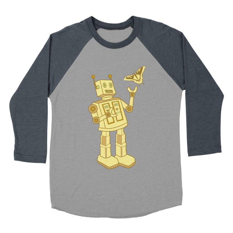 robot Women's Baseball Triblend T-Shirt by WALLYF's Artist Shop