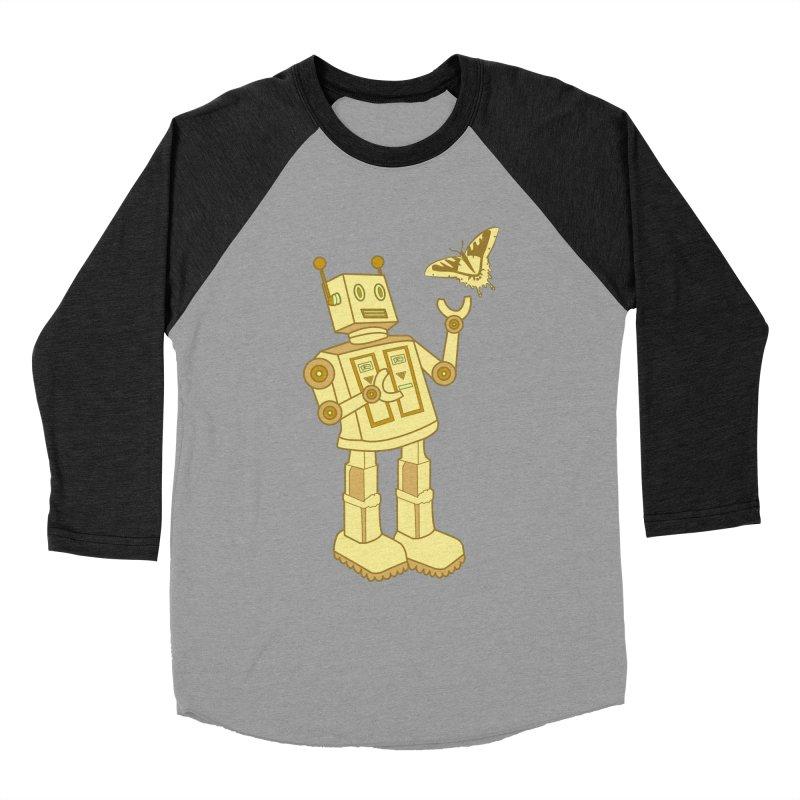 robot Men's Baseball Triblend T-Shirt by WALLYF's Artist Shop
