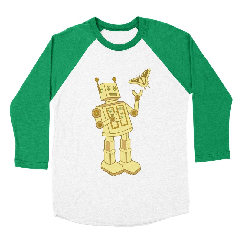 robot Men's Baseball Triblend T-Shirt by WALLYF's Artist Shop