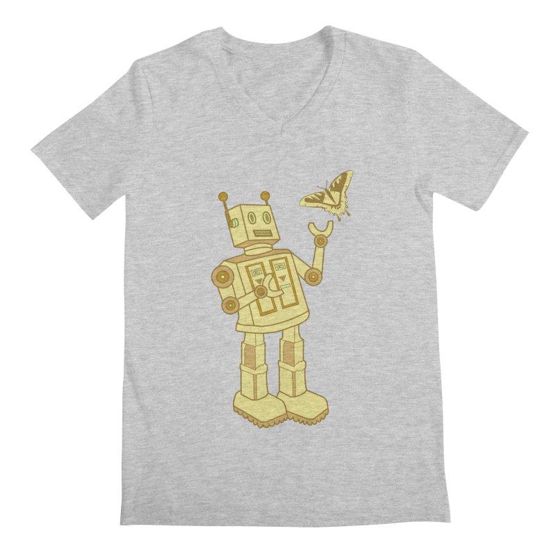 robot Men's V-Neck by WALLYF's Artist Shop