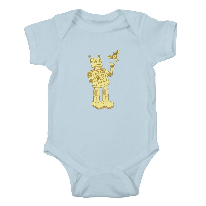 robot Kids Baby Bodysuit by WALLYF's Artist Shop