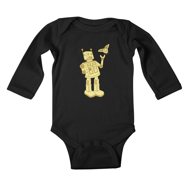robot Kids Baby Longsleeve Bodysuit by WALLYF's Artist Shop