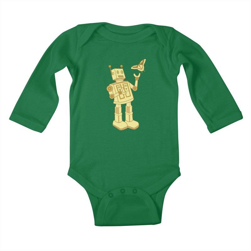 robot Kids Baby Longsleeve Bodysuit by WALLYF's Artist Shop