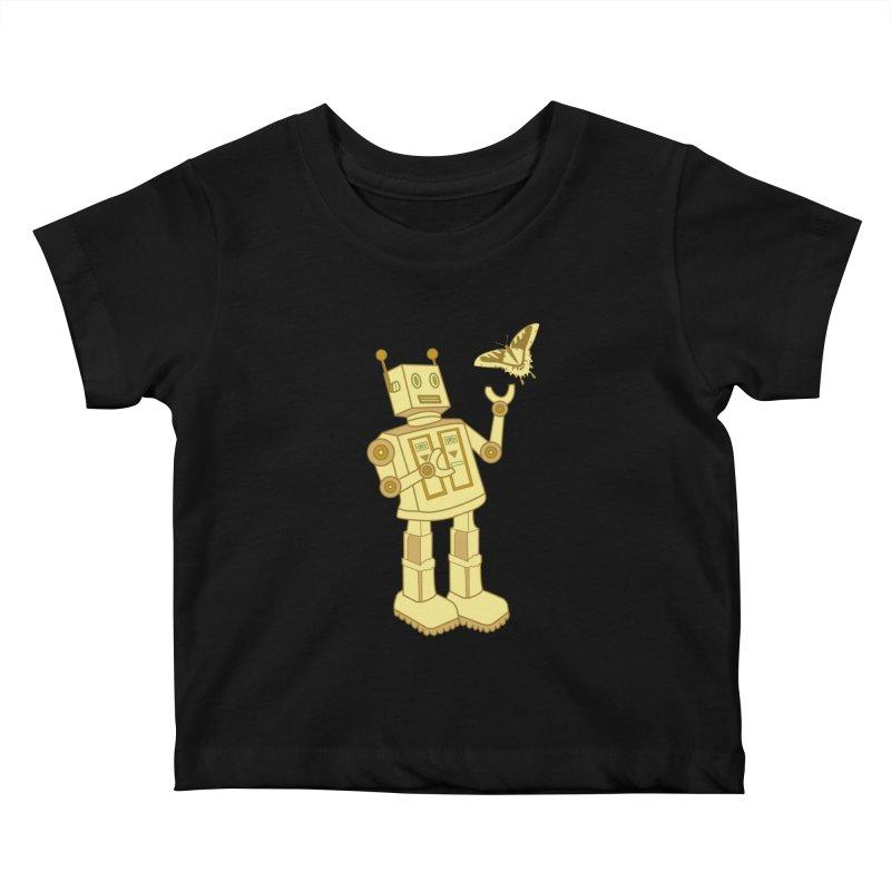 robot Kids Baby T-Shirt by WALLYF's Artist Shop