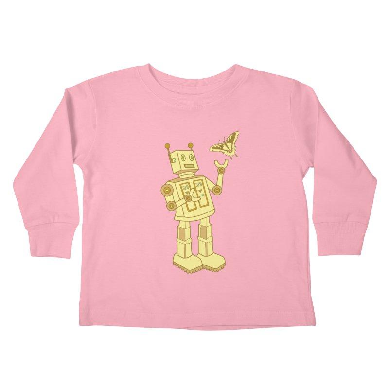 robot Kids Toddler Longsleeve T-Shirt by WALLYF's Artist Shop