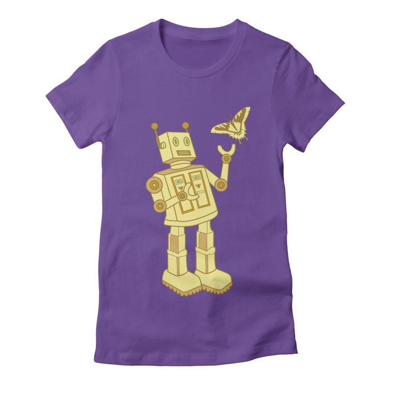 robot Women's Fitted T-Shirt by WALLYF's Artist Shop