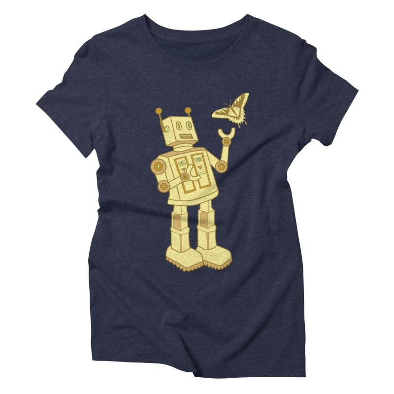 robot Women's Triblend T-shirt by WALLYF's Artist Shop