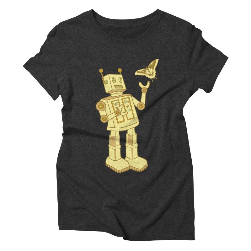 robot Women's Triblend T-shirt by WALLYF's Artist Shop